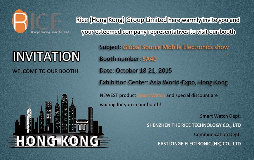 10/18/2015 Global Sources Mobile Electronics Show in Hongkong